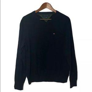 Tommy Hilfiger Men's Black V-Neck Sweater